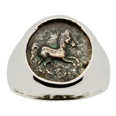 Greek Horse Men's Ring