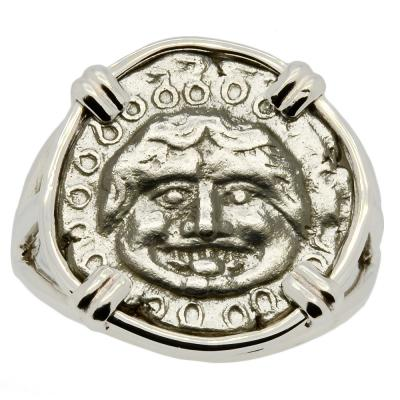 Gorgon & Anchor Drachm Ladies Ring