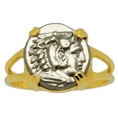 Hercules and Athena Diobol Ladies Ring