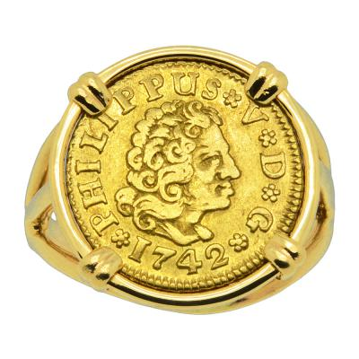 Philip V 1/2 Escudo Ladies Ring