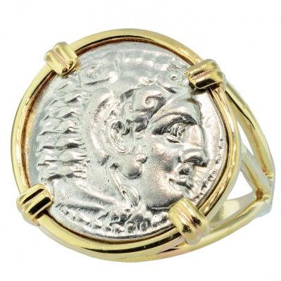 Alexander the Great Drachm Ladies Ring