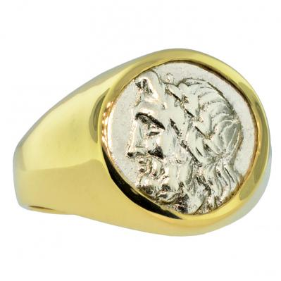 Zeus and Pan Triobol Men's Ring