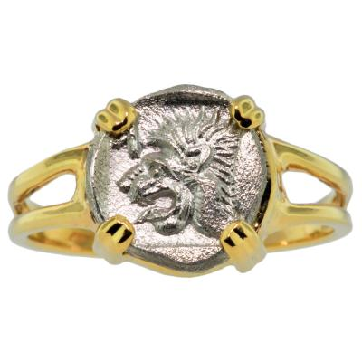 Lion & Boar Obol Ladies Ring