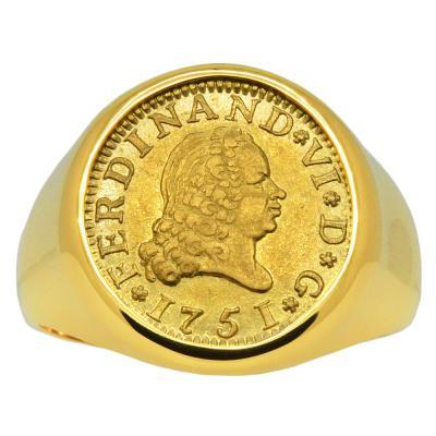 Ferdinand VI Half Escudo Men's Ring
