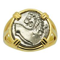 Lion Hemidrachm Ladies Ring