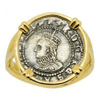 Queen Elizabeth I Penny Ladies Ring