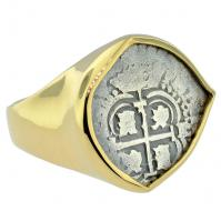 #6376 Consolacion Shipwreck 1 Real Mens Ring