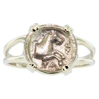 #6710 Horse Obol Ladies Ring