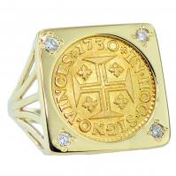 SOLD Portuguese 400 Reis Ladies Ring; Please Explore Our Ladies Rings For Similar Items.