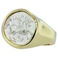 #7619 King Philip II Horseman Mens Ring