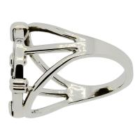 Holy Land 103-76 BC, Biblical Widow's mite in 14k white gold ladies ring.