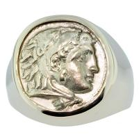 #7835 Alexander the Great Drachm Mens Ring