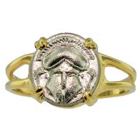 SOLD #8208 Crested Helmet Diobol Ladies Ring; Please Explore Our Ladies Rings For Similar Items.