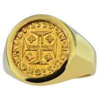 #8645 Portuguese 400 Reis Mens Ring