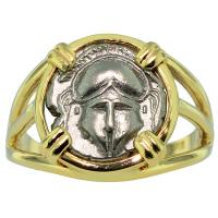 #9183 Crested Helmet Diobol Ladies Ring