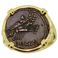 #9280 Constantine Hand of God Follis Ladies Ring