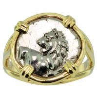 SOLD Lion Hemidrachm Ladies Ring; Please Explore Our Ladies Rings For Similar Items.